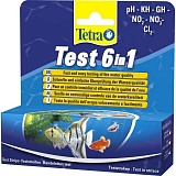 Тест Tetra Pond Quick Test 6in1: pH, GH, KH, NO2, NO3, Cl